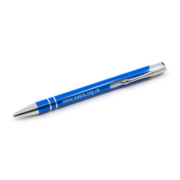 SARSA metal ballpoint pen, blue