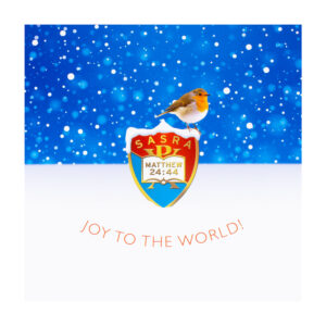 """Christmas Card - Robin/""""Joy to the World!"""" (front)"""