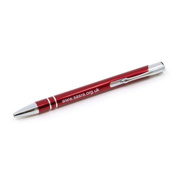 SARSA metal ballpoint pen, red