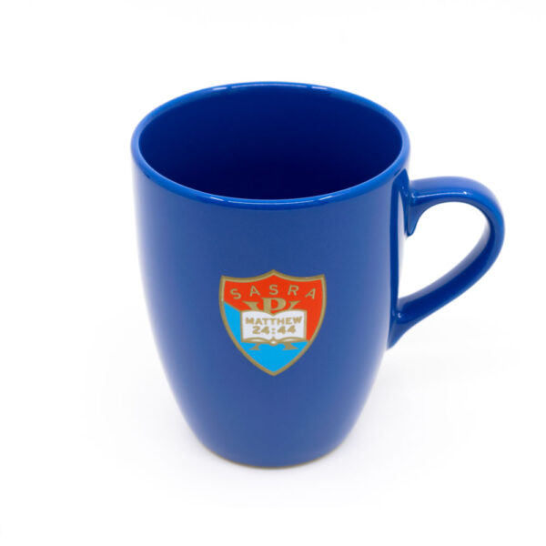 SASRA mug light blue, SASRA logo on front