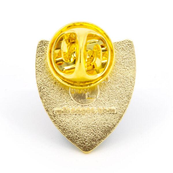 Metal SARSA pin badge (back)
