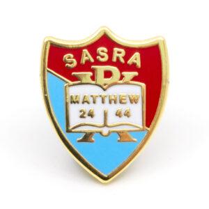 Metal SARSA pin badge (front)