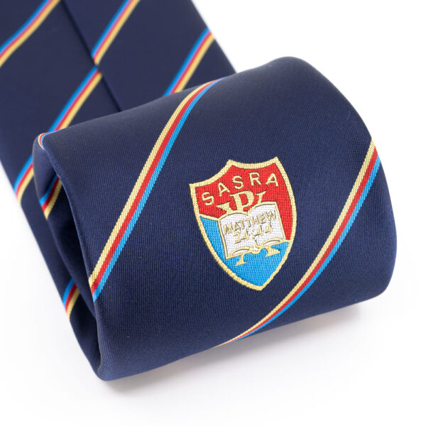 SASRA Tie (focus on logo)