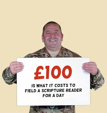£100 is what it costs to field a Scripture Reader for a day