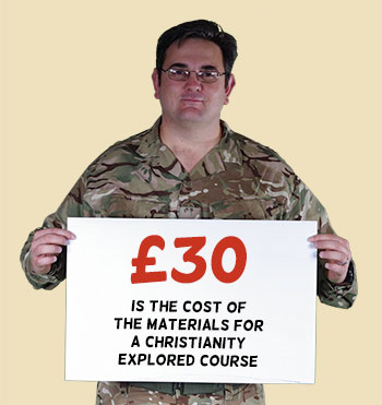 £30 is the cost of the materials for a Christianity Explored Course