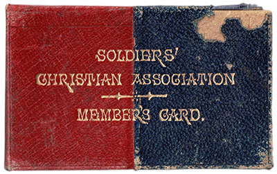 Soldiers' Christian Association — Members Card
