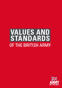 VALUES AND STANDARDS OF THE BRITISH ARMY publication front cover
