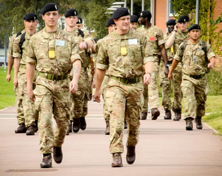 Young soldiers at Lyneham