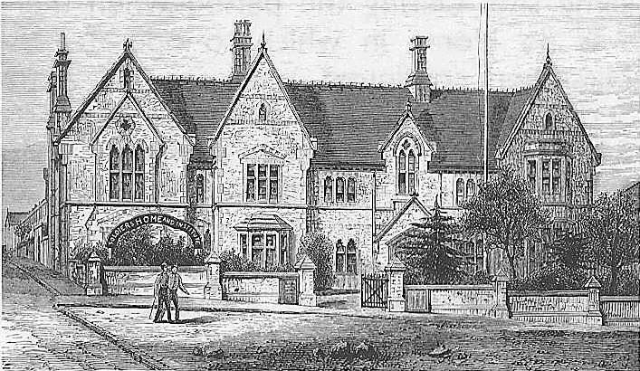 The first mission hall and Soldiers' Home