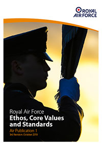 Royal Air Force Ethos, Core Values and Standards publication front cover