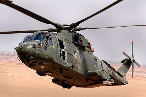 an RAF Merlin HC.3 from 1419 (Tactical Support) Flight, Basra City, Iraq in 2009