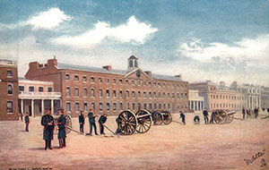 Painting of the Royal Artillery Barracks, Woolwich, c1900
